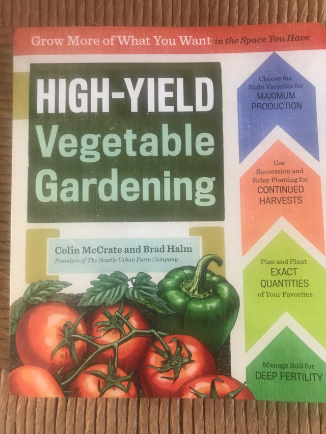 high yield vegetable gardening book cover