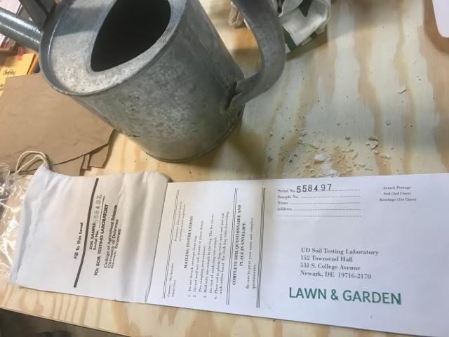 University of Delaware Soil Sampling Envelope/Bag